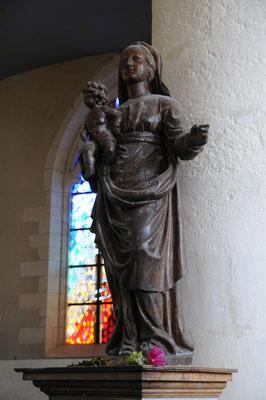 Brouage : vierge noire de l'église Saint-Pierre Saint-Paul