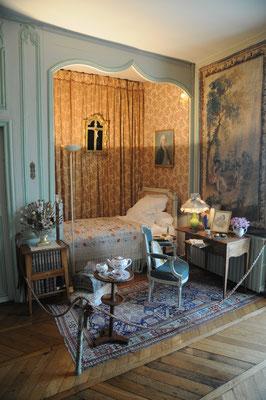 Château de Boussac : chambre de George Sand