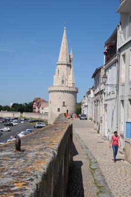 La Rochelle : les remparts et la tour de la Lanterne