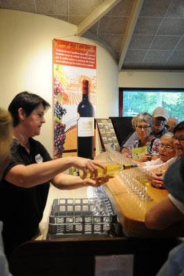 Dégustation de vin doux de Monbazillac