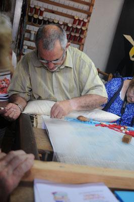 Aubusson : maison du tapissier, démonstration du lissier