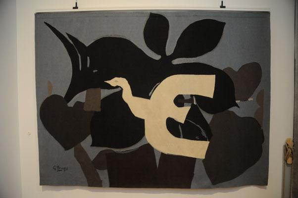 Aubusson : musée de la tapisserie, tapisserie du 20è siècle, carton de G. Braque