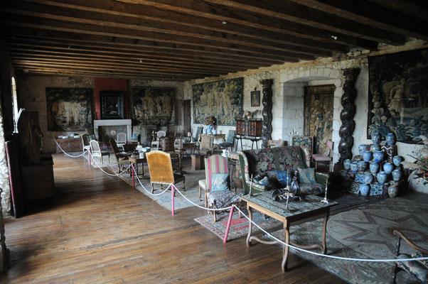 Château de Boussac : antiquités et tapisseries d'Aubusson
