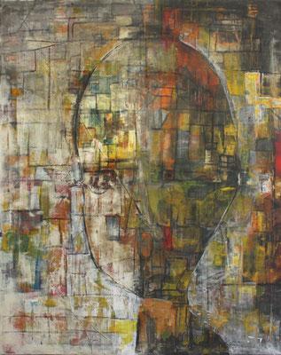 Monika Krömer, Großer Kopf, 100 x 80 cm, Acryl auf Leinwand, www.kroemer-webgalerie.de