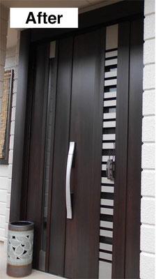 玄関ドア交換・施工後
