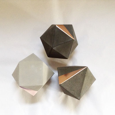Custom Geometric Solid Set with Copper Triangle