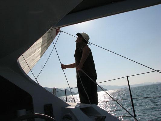 Barefoot 40 catamaran sailing image 6