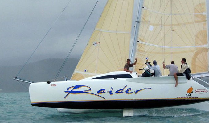 Raider Catamaran racing at Airlie Beach Race Week