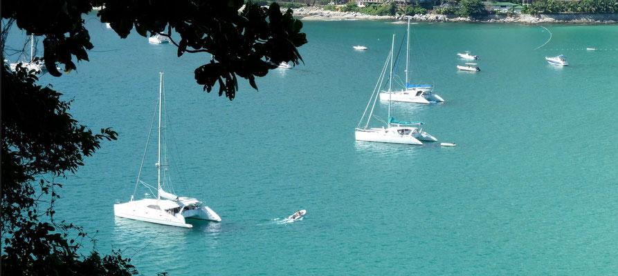 Chincogan catamarans in Nai Harn