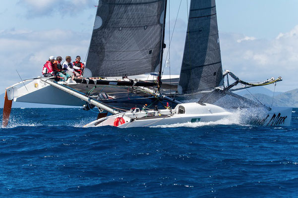 Photo 2 of a great series of photos of Mad Max racing in Airlie Beach Race Week 2016. Shirley Wodson behind the lens.