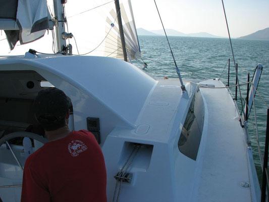 Barefoot 40 catamaran sailing image 9