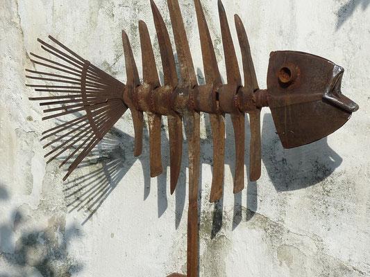 """""""Erdfisch"""", h 105 cm x h 90 cm"""