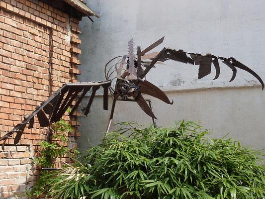 """Komm schwarzer Vogel flieg"" l 380 cm x b 245 cm"