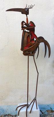 """Der Seher"", h 166cm (inkl. Podest)"