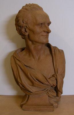 Pajou, Buste de Jean-Baptiste Lemoyne, 1759, terre cuite