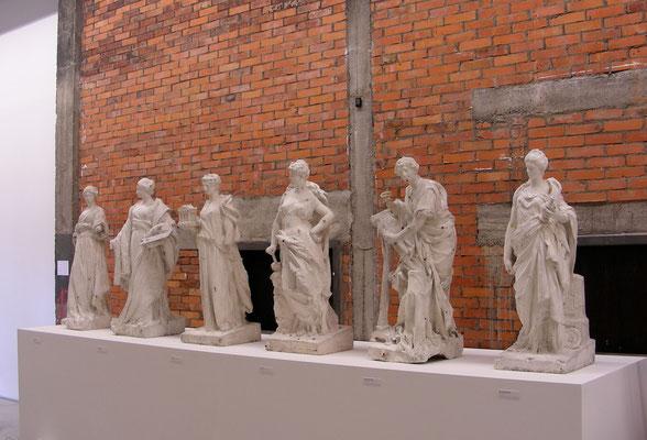 Muses (modèles pour la façade du musée), début XXe s., plâtre d'atelier