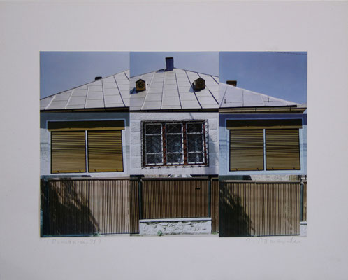 "Josef Ramaseder  ""Rumänien"" Fotokollage  40x50cm"