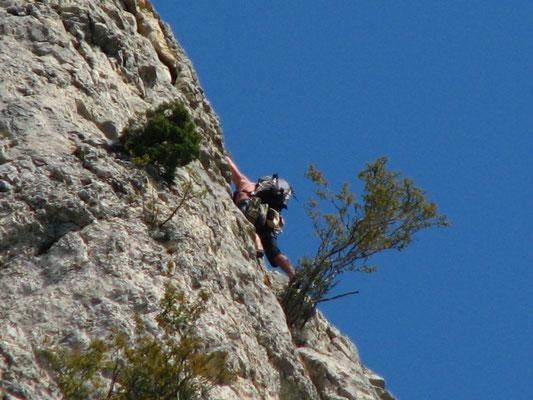 escalades sur les paroies de Poupoune