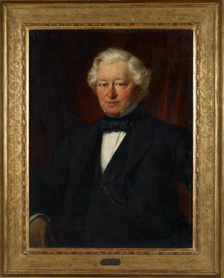 Bernhard Plockhorst, Bildnis Carl Lampe, 1876, Öl auf Leinwand
