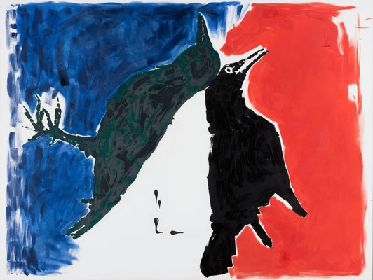 Oliver Kossack, Some Revolutions einige Umdrehungen/Whimsy and Nostalgia (Launigkeit und Nostalgie)/Von der Wand in den Raum und wieder zurück, 2009, Öl auf Leinwand