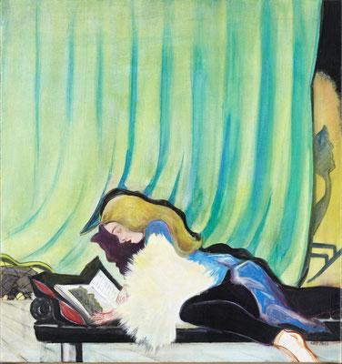 Rosa Loy, Schemen, 2013, Kasein auf Leinwand