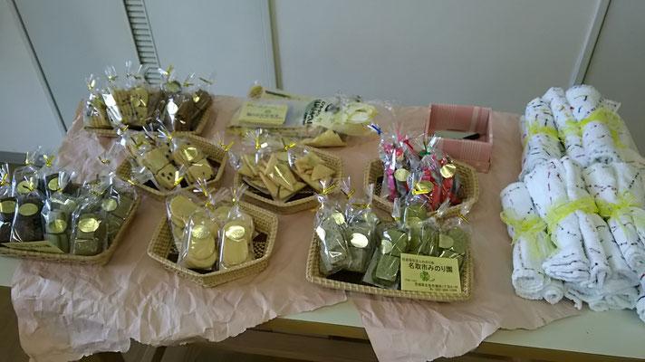 応援販売:名取市みのり会のクッキーと雑巾