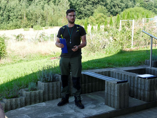 Martin Graf begrüßte die Teilnehmer im Namen des Naturparks