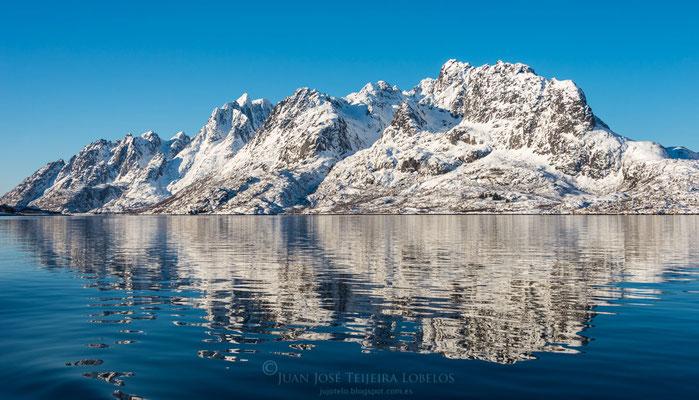 Las tranquilas aguas de los fiordos.