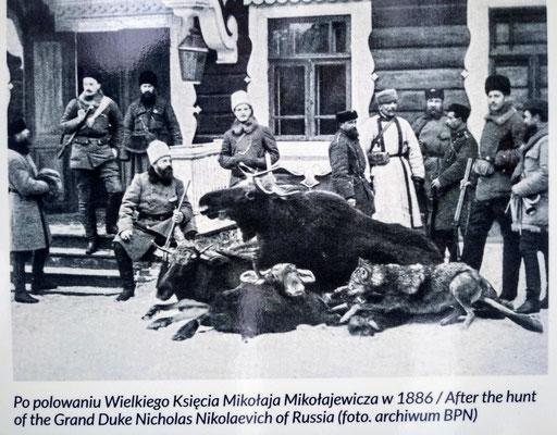 Después de la caza del gran duque Nicolás Nikolaevich de Rusia, 1886.