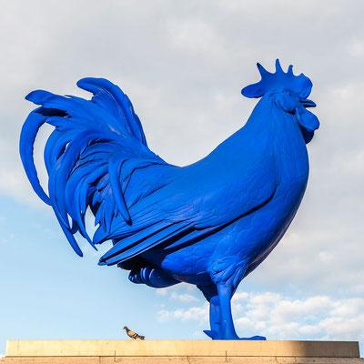 Le pigeon & le coq de Katharina Fritsch Trafalgar square London