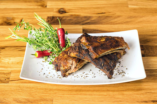 Spareribs aus Ollis Ofen mit BBQ Rub - siehe Shop
