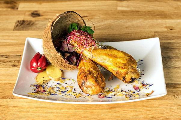 Hähnchenkeulen mit Karibik Rub - siehe Shop