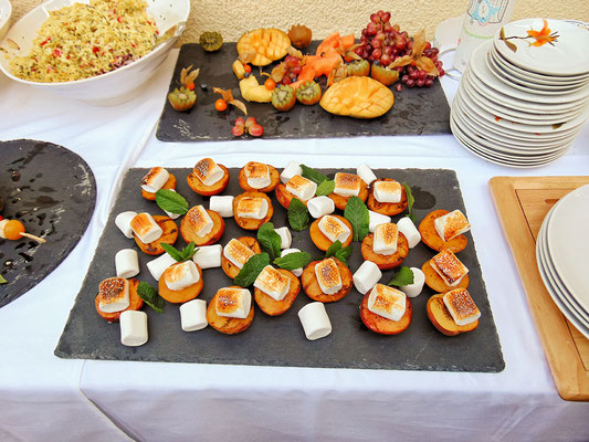 Gegrillte Pfirsiche mit Marchmallows