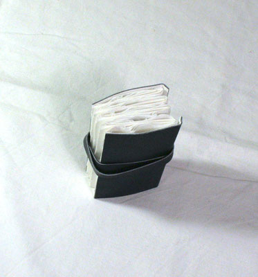 petit livre accordéon mou, livre d' artiste photos cyanotype