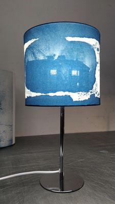 abat-jour cyanotype 25 x 20 cm