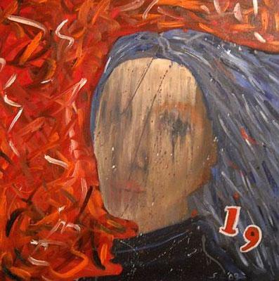veil, 2009, 60 x 60 cm, Öl auf Leinwand