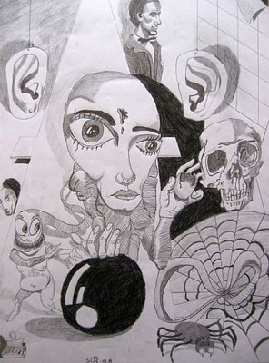o.T, 2005, 59,4 x 42 cm, Bleistift auf Papier