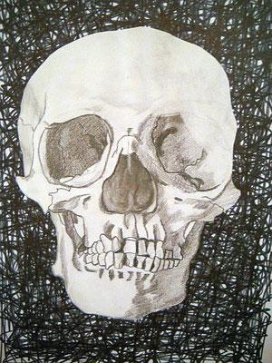 o.T, 2005, 29,7 x 21 cm, Bleistift, Edding, Papier-Ausschnitt, Kleber auf Papier