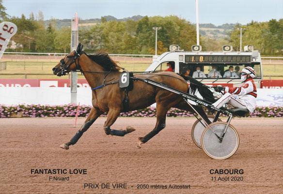 Sieg von Fantastic Love in 1.12,7 in Cabourg...