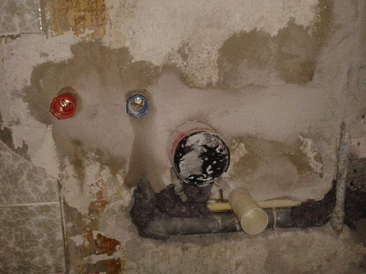 Installation Kaltwasser & Warmwasser und Kaltwasserzähler