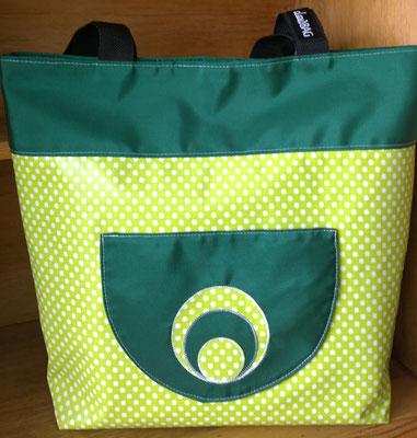 Wachstuchtasche Shopper Gina 2-teilig