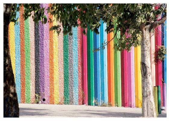 farbige Wand Nr. 12