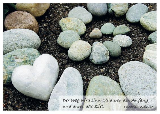 Steinspirale - sinnvoller Weg durch Anfang und Ziel  Nr. 162