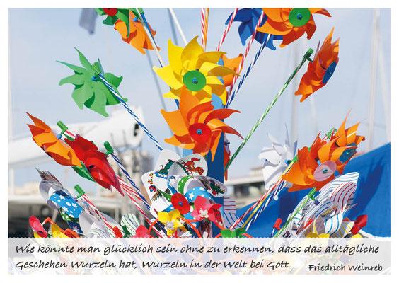 Farbige Windräder - das Alltägliche hat Wurzeln  Nr. 168