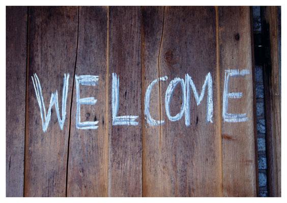 Welcome an Türe Nr. 23