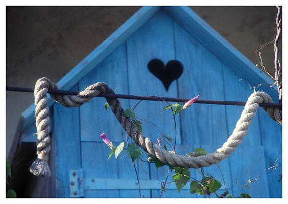 blaues Haus mit Herz Nr. 48