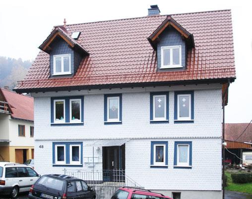 Schmitt Architektur Heidelberg- Umbau und Instandsetzung eines alten denkmalgeschützten Bauernhauses Eingangsseite