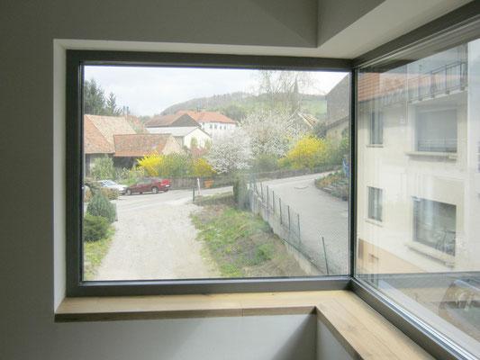 Ausblick - Schmitt Architektur Heidelberg - Neubau KFW Effizienzhaus 55 Standard (ENEV 2009) - in Weingarten / Baden