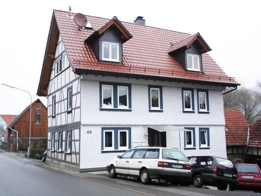 Schmitt Architektur Heidelberg- Umbau und Instandsetzung eines alten denkmalgeschützten Bauernhauses Rückseite