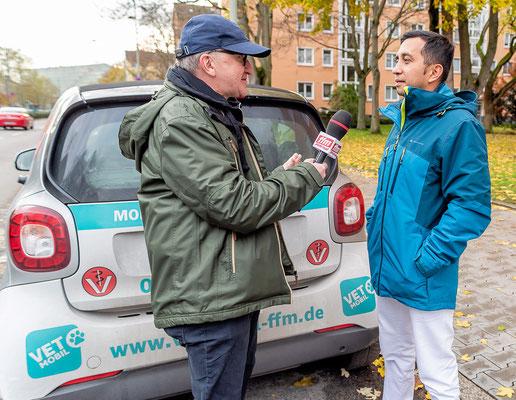 FFM JOURNAL INTERVIEW mit Tierarzt Dr. Lizcano © dokubild.de / Friedhelm Herr
